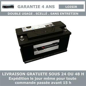 Titanium XV110 - Batterie Décharge Lente Pour Caravane et Camping Car 12V 110AH