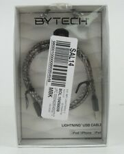 "Bytech Lightning USB Cable Sync & Charge iPhone iPad iPod 3.5"" Grey New In Box"