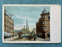 Great Western Road, Glasgow Scotland Vintage Postcard