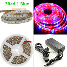 SMD 5050 LED Strip Grow Light Lamp Full Spectrum 3 Red 1 Blue Full Kit
