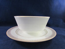 Mikasa Bone China BERKSHIRE  #157 Gravy Boat - Gold Trim / Design