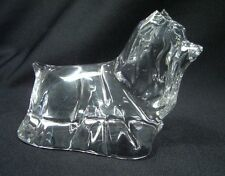 Pristine Baccarat Yorshire Terrior French Crystal Art Glass Dog