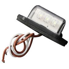 12/24V 3 LEDs lampe pour PLAQUE D'IMMATRICULATION de BATEAU RV CAMION REMORQUE