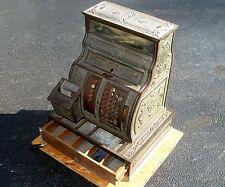Antique Vtg 1919 Brass National Cash Register General Store Barber Candy Display