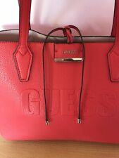 Red & Pink Reversible Guess Tote Bag Perfect Condition