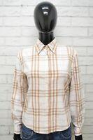 BURBERRY Camicia Donna Taglia L Maglia Blusa Camicetta Shirt Woman Slim a Quadri