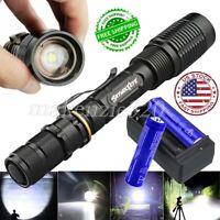 Details about  /US 5--Modes 350000 Lumens LED Flashlight Aluminum Zoom Torch Lots Set Durable