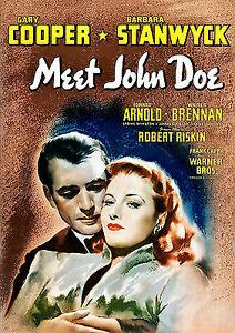 Meet John Doe DVD Frank Capra Movie -Based on Ruchard Connell - Gary Cooper