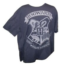 Harry Potter Hogwarts, slate blue, Film t shirt, X Large, official merchandise