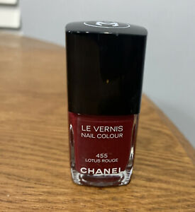 Chanel Le Vernis Nail Colour Polish 455 Lotus Rouge Limited Edition Dark Red