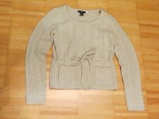 H&M beige natural cable knit cardigan sweater XS S