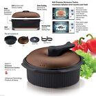 Empress Ceramic Microwave Cooker Rice Steamer Roast Grill Steam Boil Stew &Bake