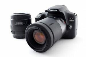 Canon EOS 1300d/Rebel T6 35-80/80-210mm Lente Set [ EXC W/8GB SD, Strap [936]