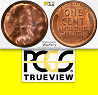 PCGS MS63 Wheat 1C Full Brockage █ RARE Error on Lincoln Wheat Cent SPECTACULAR!