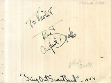 US ACTOR SINGER ALFRED DRAKE HAND SIGNED 6 x 4 AUTOGRAPH ALBUM PAGE