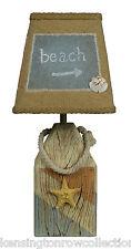 "TABLE LAMPS - ""COASTAL BUOY"" ACCENT LAMP - STARFISH - BEACH - NAUTICAL DECOR"
