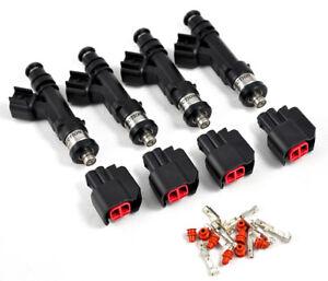 600cc BOSCH ev14 Fuel injectors 4G63T DSM Mitsubishi EVO 1-9 Eclipse Eagle Talon