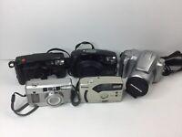 Nikon Af240sv Fujifilm zoomdate 135 Olympia IS-50 Pentax 105R IQZoom Camera lot