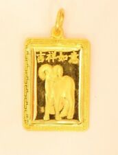 22K Solid chiness zodiac sheep sign pendant #92