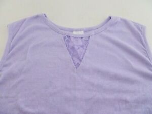 """Velrose 25"""" Ribbed Tank With Lace Insert (43405)"""
