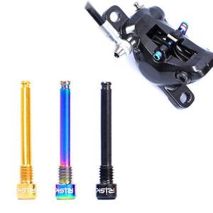 2*Disc Brake Caliper Bolts Titanium Alloy Parts For Mountain Bike Oil Disc Pad