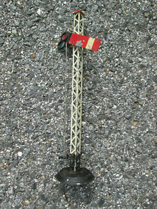 "Vintage 1920s UNMARKED TRAIN SEMAPHORE CROSSING SIGNAL  13"" Tall ! ENGLAND"