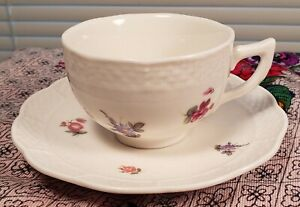 Lovely Little Tea Cup & Saucer  /  Floral Pattern  /  Nantucket