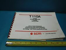 Used Scm T110A Toupie Spindle Moulder Manual