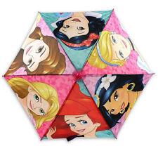 Disney Princess Kids Glitter Umbrella With Easy Grip Molded Handle (Pink)