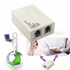 RJ11 Telephone ADSL ADSL2+ DSL Modem Phone Fax In-Line Splitter Filter Network