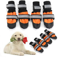 4Pcs Pet Dog Rain Snow Boots Warm Shoes Anti-slip Footwear Sock Waterproof