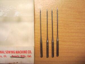4 National / Eldredge Rotary Sewing Machine Needles, Damascus Grand, Sz 14, #1/2