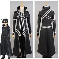Sword Art Online Kirito Cosplay Costume Coat of Midnight Suit Halloween Outfit