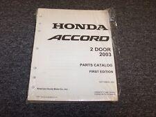 2003 Honda Accord Coupe Factory Parts Catalog Manual DX LX EX 2.4L 3.0L V6