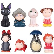 Totoro Spirited Away Ponyo on the Cliff by the sea Figure Toy Set of 8 US