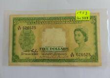 Malaya 1953 5 Dollars