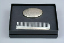 Eastern Sterling Silver Brush & Comb - Comb plastic piece broke off