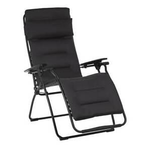 Lafuma Futura Air Comfort Zero Gravity Indoor Outdoor Recliner Chair, Acier