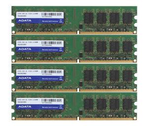 Adata 4 GB 4GB 4X 1GB 1 GB DDR2 PC2-6400U 800MHz 240PIN DIMM RAM Desktop Memory