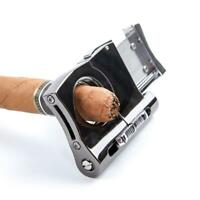 Stainless Steel Cigar Punch Cutter two-in-one Multi-function Cigar Accessories