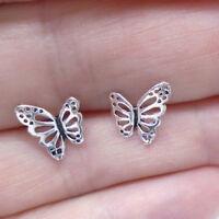 Butterfly Schmetterling Design Ohrringe Ohrstecker 925 Sterling Silber neu