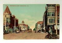 Bakersfield California Nineteenth Street Trolley Vintage Open Cars Postcard