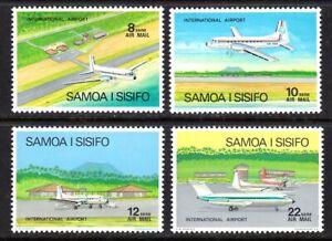 SAMOA #C7-C10 MNH PLANES AT FALEOLO AIRPORT (HAWKER SIDDELEY 748 & BAC 1-11)