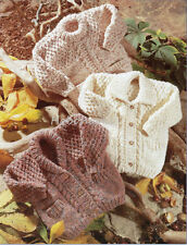 baby child jackets and tunic chunky / bulky  knitting pattern 99p