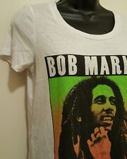 Brand New Bob Marley Woman's Large T- Shirt ~ White