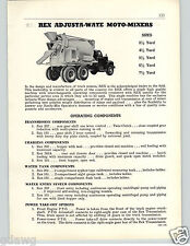 1956 PAPER AD 8 PG Rex Adjusta-Wate Moto Mixer Concrete Primer Pumps Portable