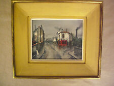 French School Signed Impressionist Oil On Canvas Street Corner View