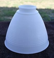 Vintage Torchiere Diffuser Shade Milk Glass Waffle-Textured Small