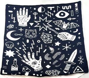 Halloween Pillow Case - Occult Pillow Palmistry Magic Bat Pillow Gothic Pillow