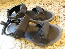 NEW KHOMBU BLACK SANDALS MENS 10 EASY TIE HOOK/LOOP TIES SPORT SANDALS FREE SHIP